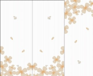 玻璃移门 四叶花图片