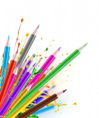 彩色铅笔水溶性彩铅色