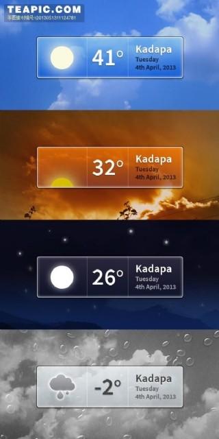 手機天氣預報圖標