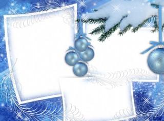 圣诞框架平面设计图图片