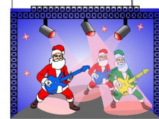 圣誕老人演奏會圖片
