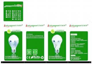 led球泡燈包裝設計圖片