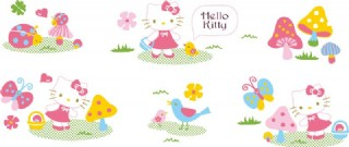 卡通hello kitty插画矢量素材