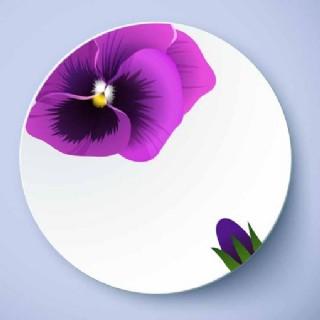 盤子花卉圖案