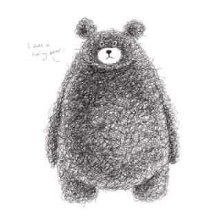可爱手绘棕熊矢量