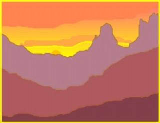 紅色的山峰矢量下載
