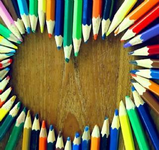 心形铅笔图片