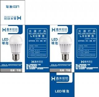 led球泡包裝設計