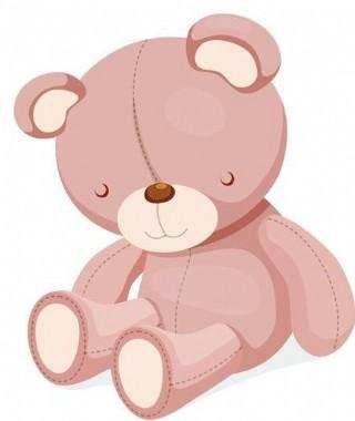超级可爱的泰迪熊设计矢量图06