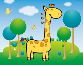 卡通動物插畫 鹿