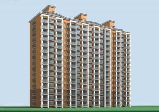 高层三联板式住宅楼3D模型