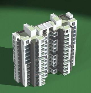 小高层塔式双联住宅楼模型